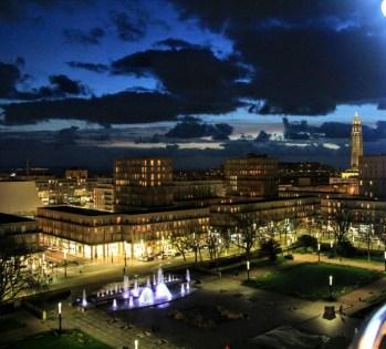 Le Havre centre-ville vue du haut