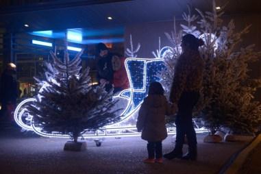 Le Traîneau lumineux du Père-Noël
